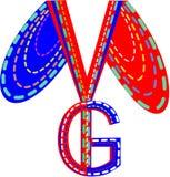Ymg segna il logo con lettere Immagine Stock