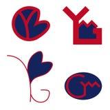 Ymg segna il logo con lettere Fotografia Stock