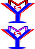 Ymg segna il logo con lettere Fotografia Stock Libera da Diritti