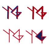 Ymg segna il logo con lettere Fotografie Stock