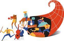 Ymnighetshorn stock illustrationer