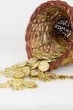 Ymnighetshorn av guld Arkivbild