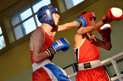 Yngre boxningturnering Arkivbilder