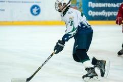 Yngre ishockeyspelare Royaltyfria Foton