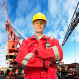 inżynier na morzu Zdjęcie Royalty Free