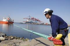 inżynier portu statek Fotografia Stock