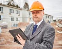 Inżyniera i domu budowa Zdjęcie Stock
