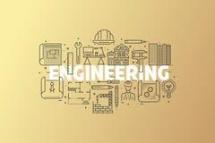 Inżynieria I projekta sztandaru ilustracja Zdjęcia Stock