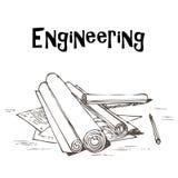 inżynieria projekty Obraz Stock