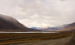 Inżynieria wyczyn w alaskim permafrost Obrazy Royalty Free