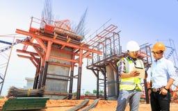Inżyniery i budowy Fotografia Royalty Free
