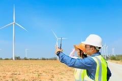 Inżyniery i silniki wiatrowi Zdjęcie Stock