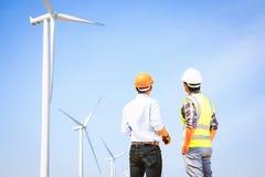 Inżyniery i silniki wiatrowi Obraz Stock