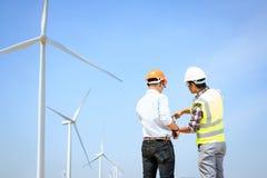 Inżyniery i silniki wiatrowi Zdjęcie Royalty Free