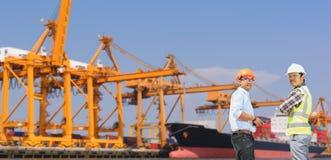Inżyniery i transport Obraz Royalty Free