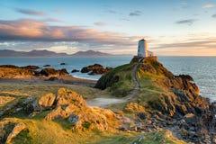 Ynys Llanddwyn在Anglesey 免版税库存图片