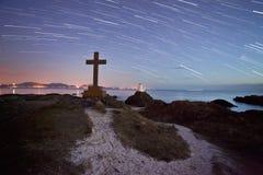 Ynys Llanddwyn island star trail Stock Photography