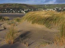 Песчанные дюны на Ynyslas Стоковое фото RF