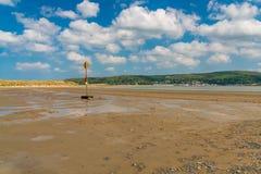 Ynyslas strand, Wales, UK Royaltyfria Foton