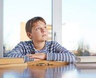 12 yo儿童构成 免版税库存照片