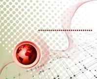 事务和通信提取与室的背景yo的 免版税库存图片