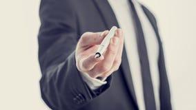 Взгляд крупного плана yo профессора, бизнесмена или политика предлагая Стоковая Фотография RF