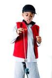 Yo bro stand. Boy showing skills with a yo-yo Stock Photography