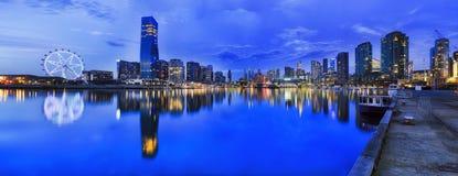 Yo cacerola azul de Hor de los Docklands Imagen de archivo libre de regalías