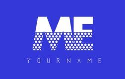 YO M E Dotted Letter Logo Design con el fondo azul Fotografía de archivo libre de regalías