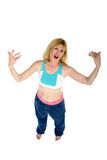 Yo Mama!. Middle aged gangsta momma with an attitude.  Yo Royalty Free Stock Images