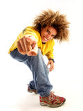 Yo man. Particular style young man portrait. Urban style young man portrait Royalty Free Stock Image
