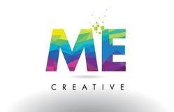 YO vector del diseño de los triángulos de M E Colorful Letter Origami Imagen de archivo libre de regalías