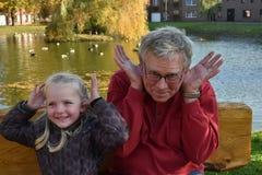 Yo y Grandpa Fotografía de archivo