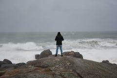 Yo y mar Imagen de archivo libre de regalías