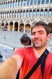 Yo y mi amigo especial en Venecia Foto de archivo