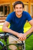 Yo y mi bici Fotografía de archivo libre de regalías