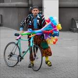 Yo y mi bici Foto de archivo libre de regalías