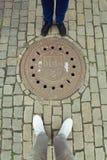 Yo y mi esposa en Praga Fotos de archivo
