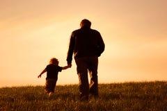 Yo y mi papá Foto de archivo libre de regalías
