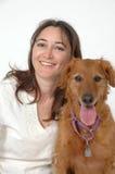 Yo y mi perro Imagen de archivo libre de regalías