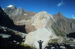 Yo y montañas Imagen de archivo