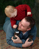 Yo y papá fotos de archivo