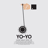 Yo-yo υπό εξέταση Στοκ Φωτογραφία