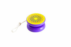 Yo-yo. Plastic colored yo-yo on white background Royalty Free Stock Images