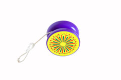 Yo-yo. Plastic colored yo-yo isolated on white background Royalty Free Stock Images