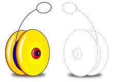 Yo, yo, coloring book. Yo yo toy not only for children Royalty Free Stock Photography