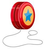 Yo-yo rosso con corda bianca Immagine Stock
