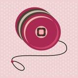 Yo-yo toy. Vector yo-yo toy greeting card Stock Photography