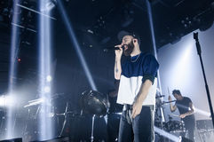 Yoann Lemoine performing at the club Cosmonavt. Stage name Woodkid Royalty Free Stock Photography