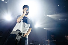 Yoann Lemoine performing at the club Cosmonavt. Stage name Woodkid Stock Images